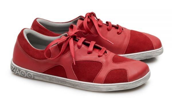 Barfuss-Sneaker-rot