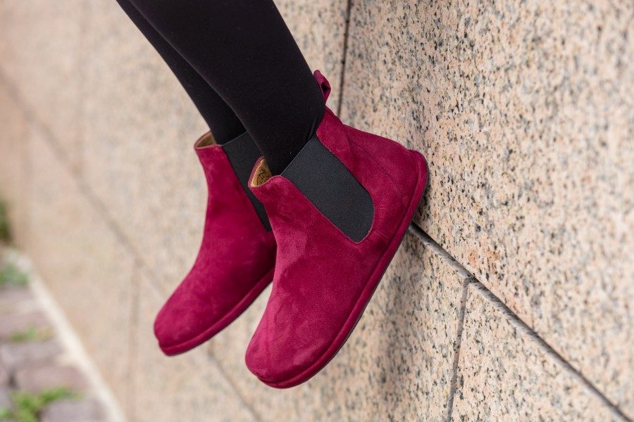 rote-Chelsea-Boots-Barfussschuhe